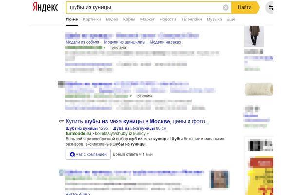 Яндекс – «шуба из куницы» – 15 ноября 2018